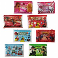 Stationery Study Set / Perlengkapan Alat Tulis Set 8 in 1 Motif Kartun RS-3000 [Best Seller]