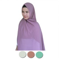 BEST SELLER - Pashmina Bintik Gold - Warna Soft