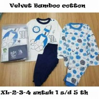 Velvet Junior - Piyama Bamboo Cotton Mix & Match 2 PCS