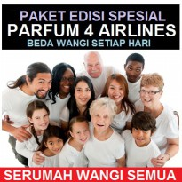 PAKET PARFUM 4 AIRLINES - AUTHENTIC ORIGINAL 100%