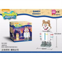 Mainan Lego Bricks Weagle Sandy Spongebob White 285pcs