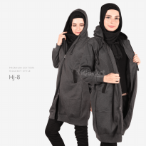 JAKET HIJACKET - PREMIUM FLEECE - HJ8 - Hijacket MIsty x Black