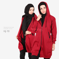 JAKET HIJACKET - PREMIUM FLEECE - HJ10 - Hijacket Maroon x Black