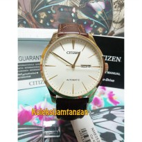 JAM TANGAN PRIA CITIZEN NH8353-18A GOLD BROWN ORIGINAL MURAH