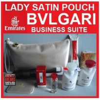 PAKET TAS LADY BVLGARI SATIN CLUTCH AUTHENTIC ORIGINAL
