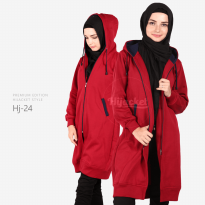 JAKET HIJACKET - PREMIUM FLEECE - HJ24 - Hijacket Navy x Maroon