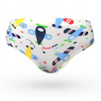 Fly Kids Briefs Plane Celana Dalam/Underwear (1Pack isi 3 Pcs)FK 3134 - MultiColour