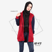 JAKET HIJACKET VARSITY - PREMIUM FLEECE - HJ-V2 Zipper ( Hijacket Varsity )