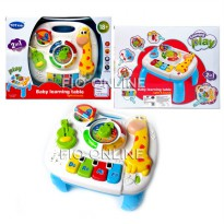 2IN1 BABY LEARNING TABLE 1089 - PLAY LEARN FUN TABLE MAINAN ANAK BAYI