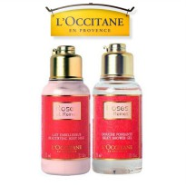 L'Occitane Rose Silky Shower Gel 75ml+Rose Body Milk 75ml