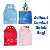 Selimut Bayi Carter / Selimut Topi Baby / Baby Blanket