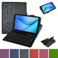[globalbuy] Removable Bluetooth Keyboard Leather Case Cover For Samsung Galaxy Tab E 8.0 T/5502672