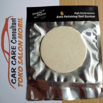 FELT GLASS POLISHING PAD ( PAD UNTUK POLES KACA ) -- 80MM -- VELCRO
