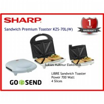 Sandwich Toaster Sharp KZS-70L(W)