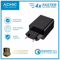 (POP UP AIA) ACMIC CQC01 - Quick Charge 3.0 USB Wall Charger Fast Charging - Hitam