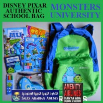 PAKET TAS ANAK DISNEY ORIGINAL MONSTER UNIVERSITY
