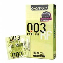 Kondom Okamoto Real Fit 0.03 Made in Japan, Ready Stock