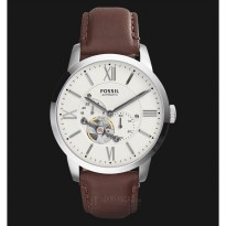Fossil RWS3064 Townsman Automatic Leather Brown Original For Man Garansi Resmi 1 Tahun