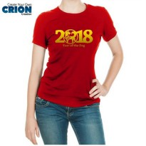 Kaos Imlek Ladies - Year Of The Dog 2018 Gold - By Crion