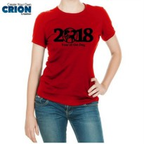 Kaos Imlek Ladies - Year Of The Dog 2018 - By Crion