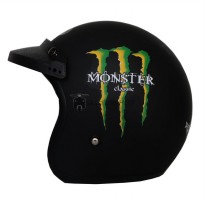 Helm Bogo JPN Retro Motif Monster Energy Klasik + Pet