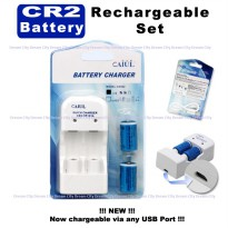 Fujifilm Battery CR2 / CR-2 / CR 2 Charger Battery (Baterai Cas)