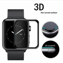 Wakaka 3D Tempered Glass for Apple Watch 38mm - Hitam
