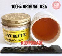 POMADE LAYRITE ORIGINAL / DELUXE MEDIUM WATERBASED 4 OZ + FREE SISIR