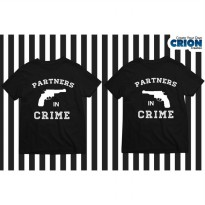 Kaos Couple Valentine - Partners In Crime - By Crion