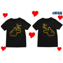 Kaos Couple Valentine - She's Mine He's Mine Gold - By Crion