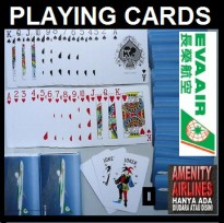 PLAYING CARDS ORIGINAL DARI KABIN EVA AIR