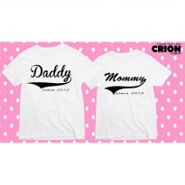 Kaos  Couple - Daddy Mommy Since - By Crion