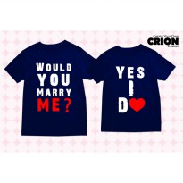 Kaos Couple - Would You Marry Me ? Yes I Do - By Crion