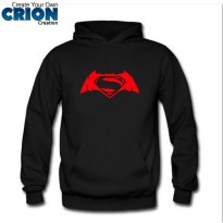 Jaket Sweater Hoodie Batman VS Superman Dawn Of Justice Logo- By Crion