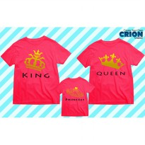 Kaos Couple Family - King , Queen , And Princess - By Crion