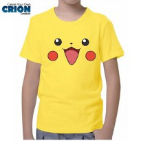 Kaos Anak Pokemon - Pikachu Face - By Crion