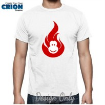 Kaos Imlek 2016 - Fire Monkey Logo -Chinese New Year-Sincia by Crion