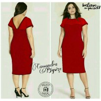 JUMBO CASANDRA RED(CAN)BAHAN JERSEY ITY SUPER MIX TILE FIT TO XXL