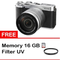 fujifilm X-A2 kit 16-50mm garansi 1tahun free memori 16gb + filter