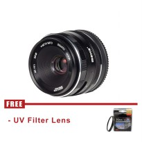 Meike 25mm f1.8 APS-C Lens for Sony E mount - Hitam - FREE UV Filter