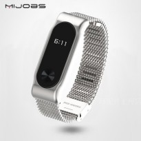 Xiaomi Mi Band 2 OLED Tali Replacement Band / Strap, Stainless Steel Mijobs Silver