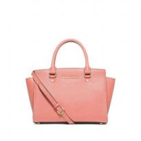 Michael Kors Selma Saffiano Leather Medium Satchel - Pink ( DB055 Pink )