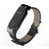 Xiaomi Mi Band 2 OLED Tali Replacement Band / Strap, PU Leather Mijobs Black