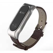 Xiaomi Mi Band 2 OLED Tali Replacement Band / Strap, PU Leather Mijobs Brown