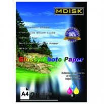 MDISK GLOSSY PHOTO PAPER A4 210 gsm (20 Sheets)