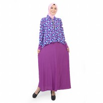 Jfashion Long Dress Gamis Maxi Krah Kemeja Variasi Seleting - Mariam