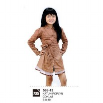 Dress Anak Perempaun Azzura 569-13 COKLAT