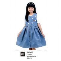 Dress Anak Perempaun Azzura 642-10 BIRU