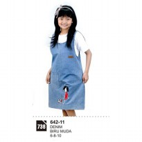 Dress Anak Perempaun Azzura 642-11 BIRU