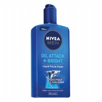 NIVEA Men Liquid Facial Foam Oil Attack + Bright 150ml